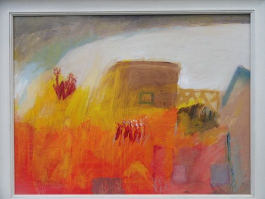 'Abstract Landscape', oil on canvas